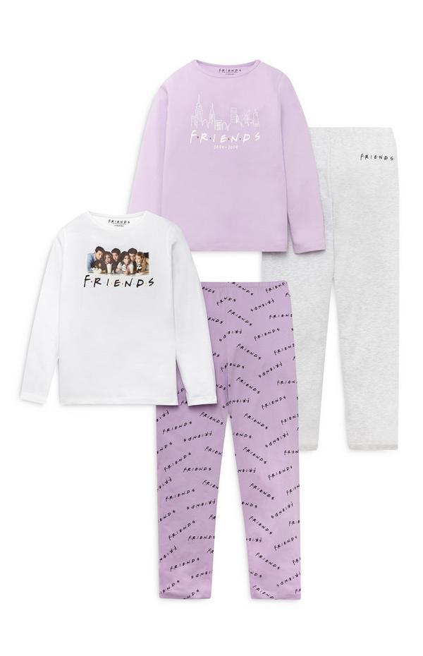 Vijolična pižama Friends za starejša dekleta, 2 kosa