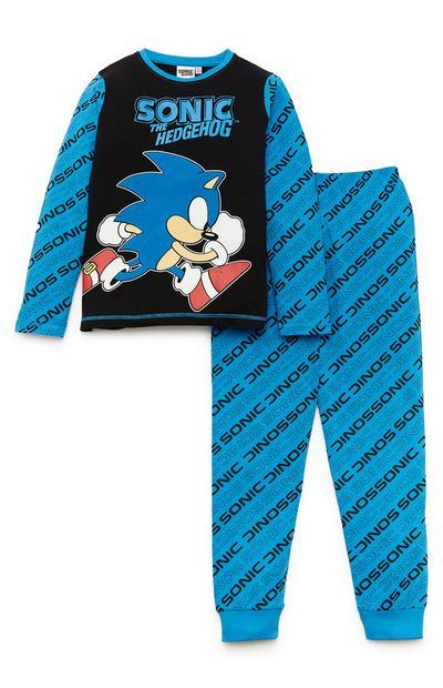 Blauwe pyjama Sonic voor jongens