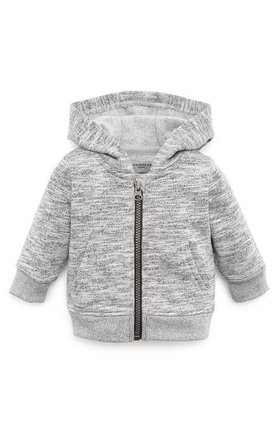 Baby Boy Grey Zip Up Hoodie