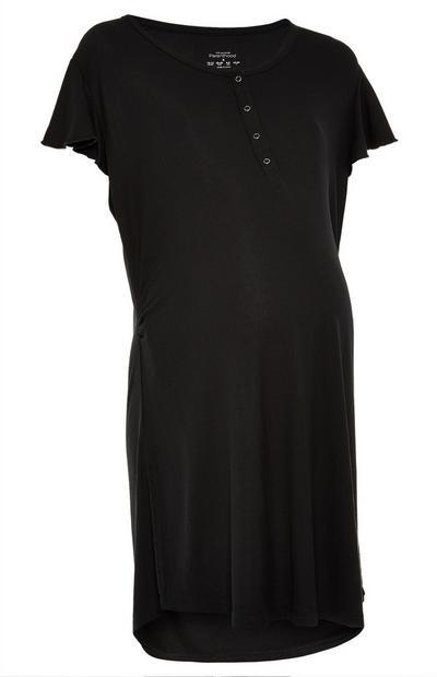 Schwarzes Umstandsnachthemd