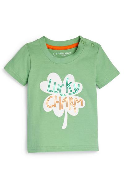 Baby Boy Green Lucky Charm Saint Patrick's Day T-Shirt