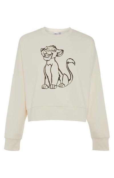 Disney Ecru Simba Print Sweater