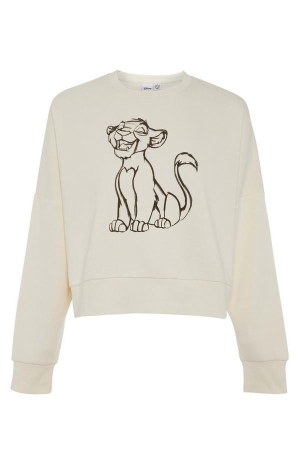 Disney Ecru Simba Print Sweatshirt