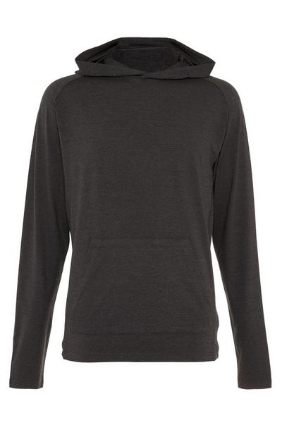 Charcoal Super Stretch Pocket Pull Over Hoodie
