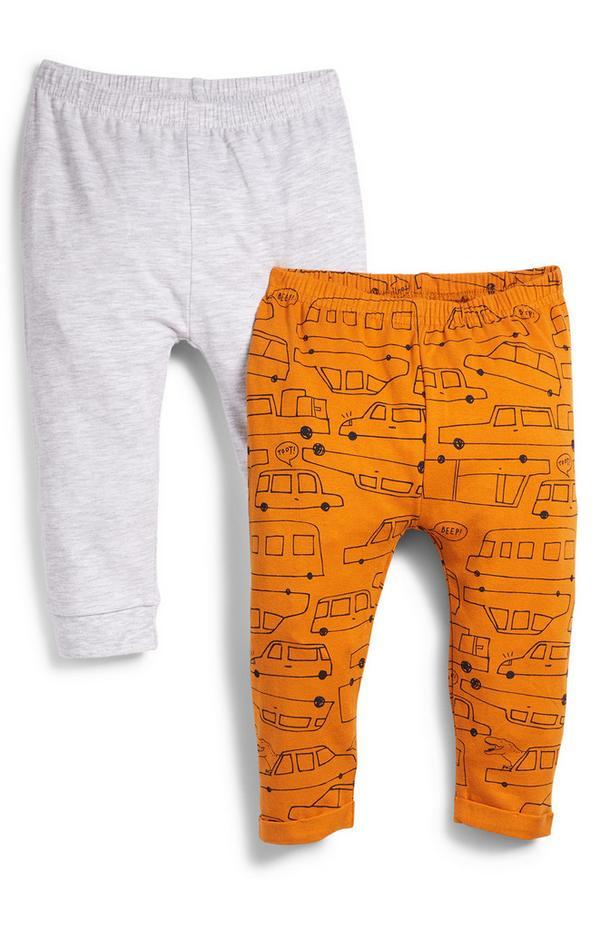Pack de 2 leggings para bebé niño