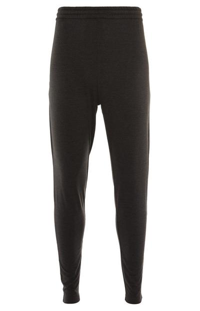 Donkergrijze superstretch joggingbroek