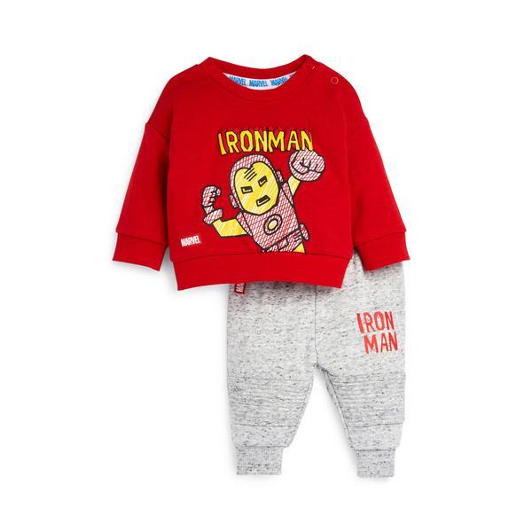 Baby Boy Red Ironman Leisure Set