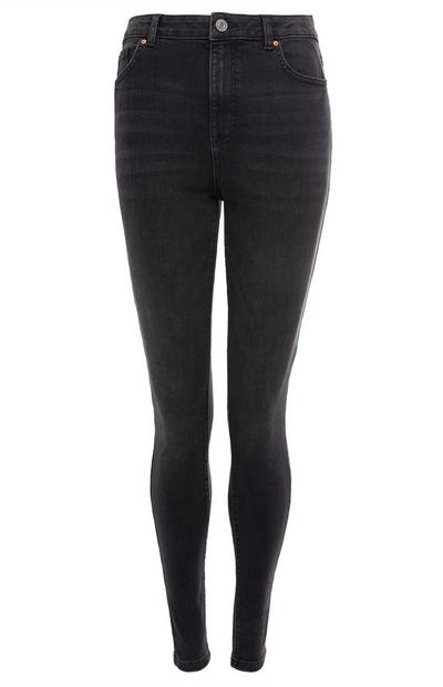 Zwarte jeans met hoge taille
