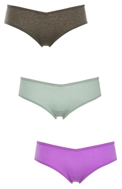 Mixed Colour Hipster Core Briefs 3 Pack
