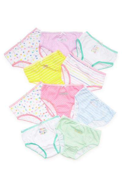 Lot de 10 culottes à pois Dream fille