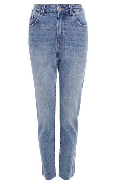 Modre ozke kavbojke z ravnimi hlačnicami