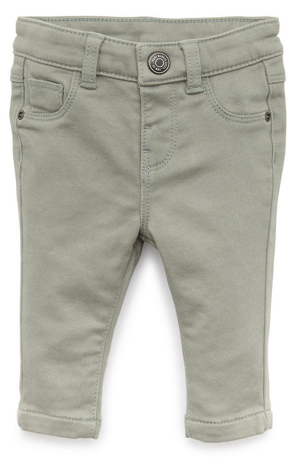 Baby Boy Grey Skinny Twill Trousers