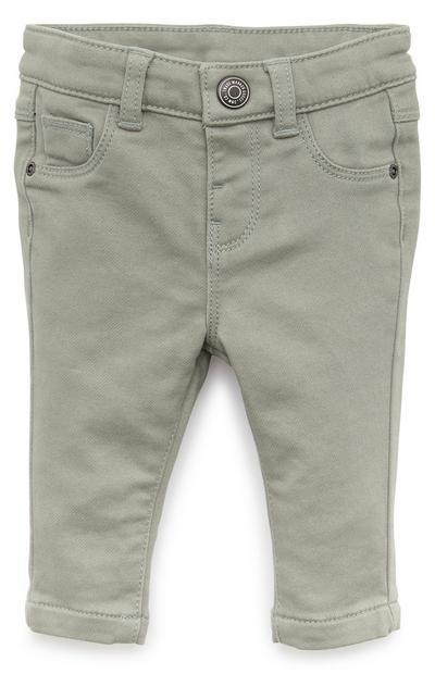 Pantaloni skinny grigi in twill da bimbo