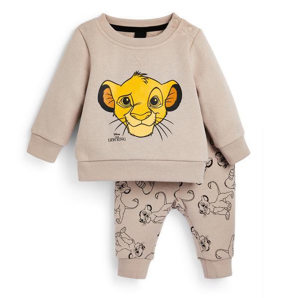 Baby Boy Beige The Lion King 2-Piece Leisure Set