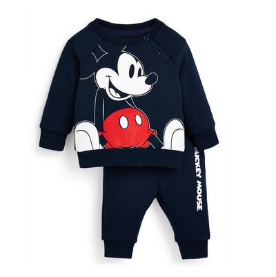 Baby Boy Navy Disney Mickey Mouse 2 Piece Outfit