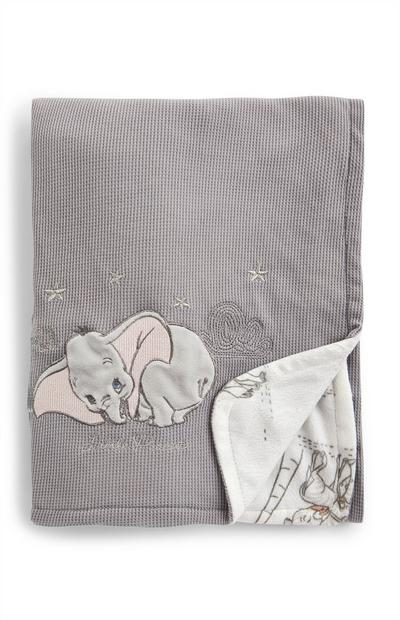 Grey Disney Dumbo Baby Blanket