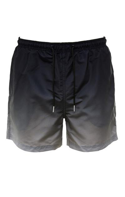 Black Dip Dyed Tie Waist Shorts