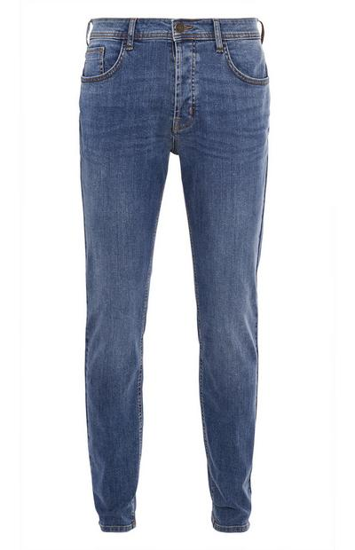 Mittelblaue Slim-Fit-Jeans mit Stretch