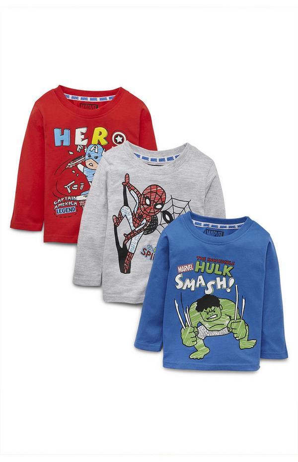 Fantovske majice za dojenčke Marvel Maščevalci, 3 kosi