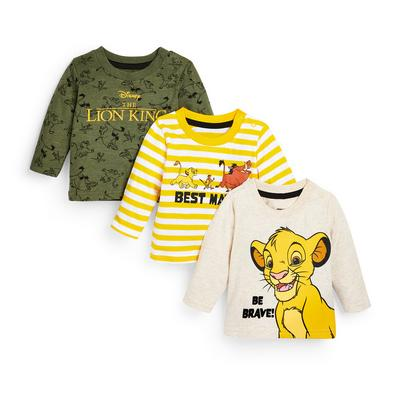 Pack 3 tops Disney Lion King menino bebé