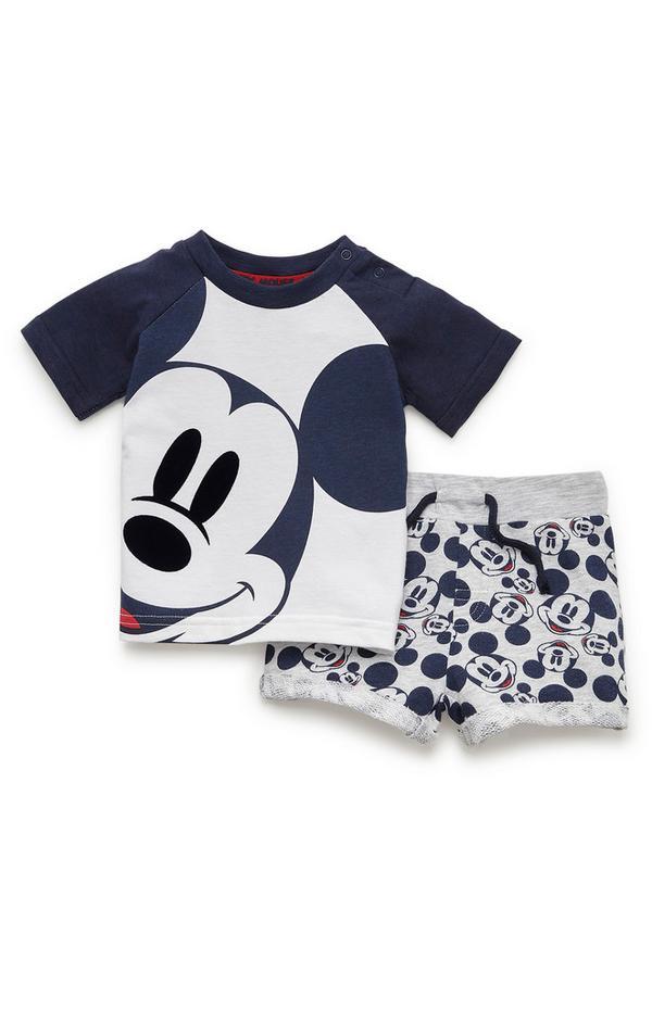 Baby Boy Navy Disney Mickey Mouse T-Shirt And Shorts Set