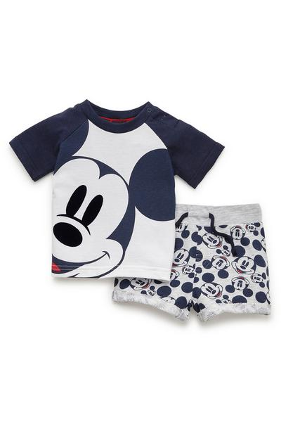 Baby Boy Navy Disney Mickey Mouse T-Shirt And Shorts Set