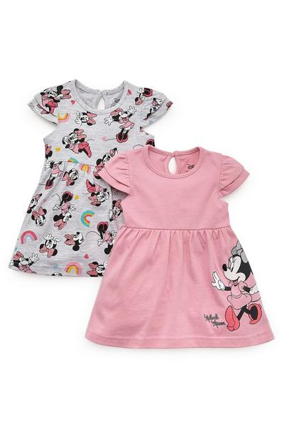 Lot de 2 robes Disney Minnie Mouse bébé fille