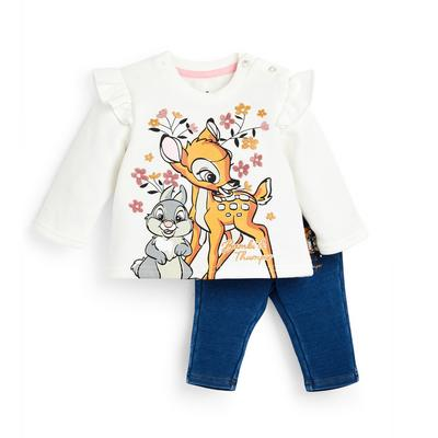 Sweat-shirt ras du cou et jegging Disney Bambi bébé fille