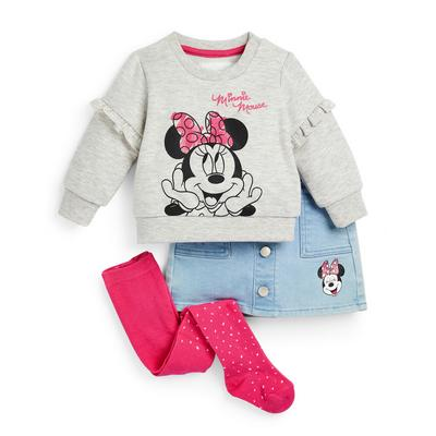 Ensemble sweat-shirt ras du cou et jupe Disney Minnie Mouse bébé fille