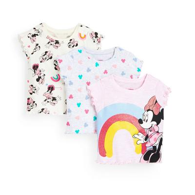 3-Pack Baby Girl Disney Minnie Mouse T-Shirts