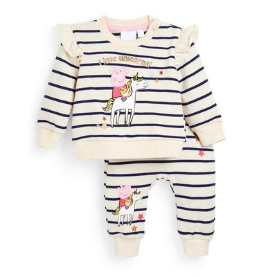 Ensemble sweat-shirt ras du cou et bas de jogging Peppa Pig bébé fille