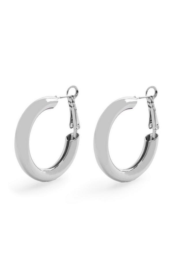 Silverstone Chunky Midi Hoop Earrings