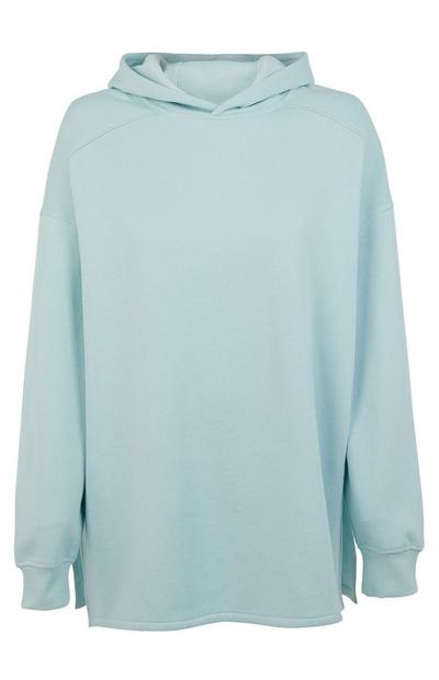 Mint Oversized Side Split Hoodie