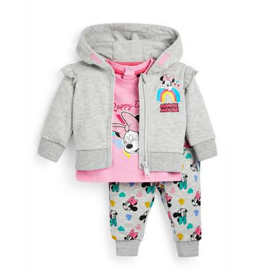 Baby Girl Minnie Multicolour Leggings T-Shirt And Hoodie Set 3 Piece