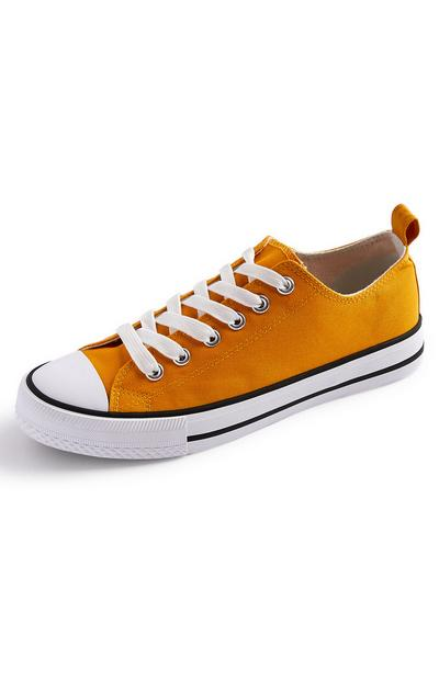 Mustard Classic Canvas Trainers