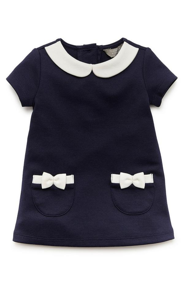 Elegantes Ponté-Kleid in Marineblau für Babys (M)
