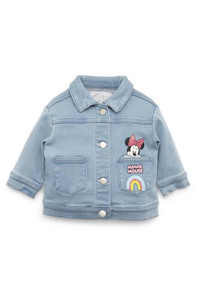 Baby Girl Disney Minnie Mouse Blue Denim Jacket