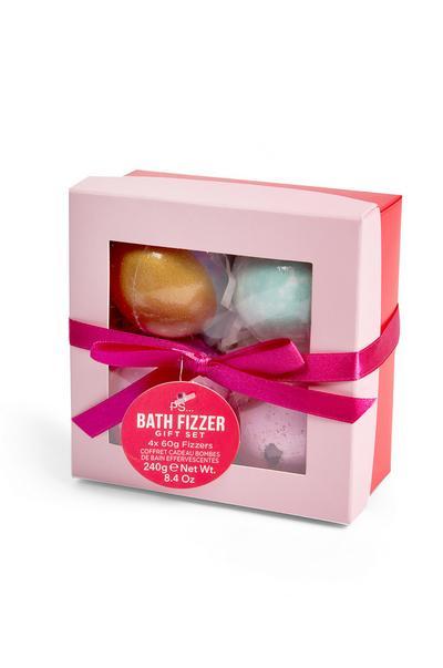Valentines Bath Fizzer Set Gift Set 4 Pack