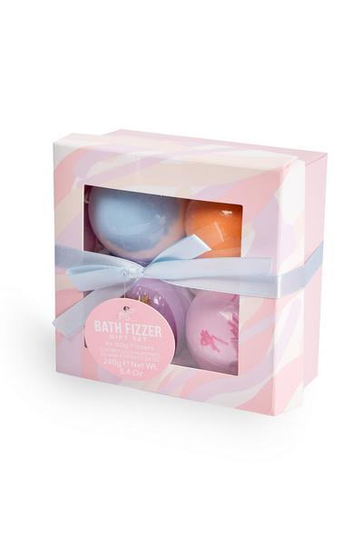 Valentines Lilac Bath Fizzer Gift Set 4 Pack