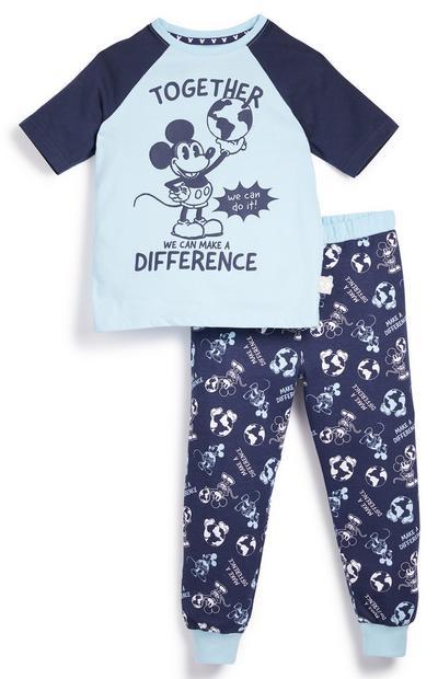 Donkerblauwe met blauwe pyjama Primark Cares met Disney Mickey Mouse voor jongens