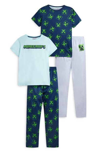 "Marineblauer ""Minecraft"" Pyjama (Teeny Boys), 2er-Pack"