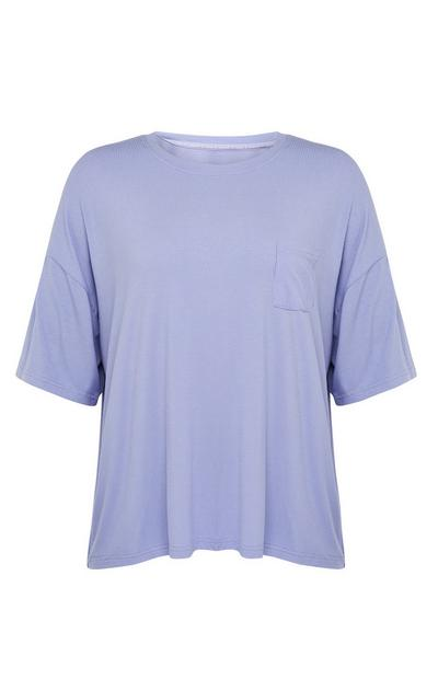 T-shirt canelado suave lilás