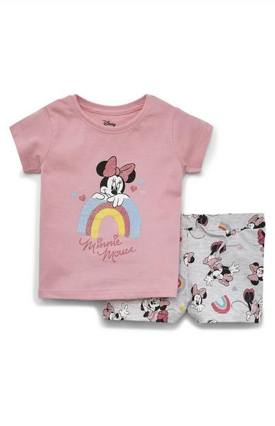 Ensemble t-shirt et short Disney Minnie Mouse bébé fille