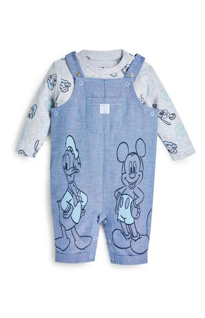 Newborn Baby Disney Mickey Mouse Overalls Set