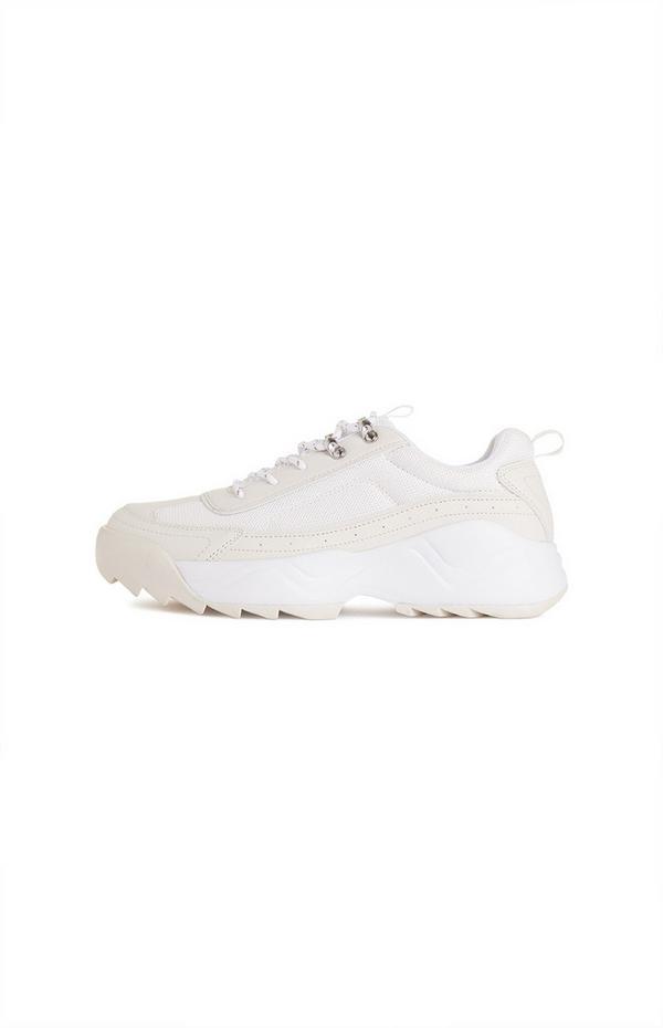 White Lug Sole Chunky Hiker Sneakers
