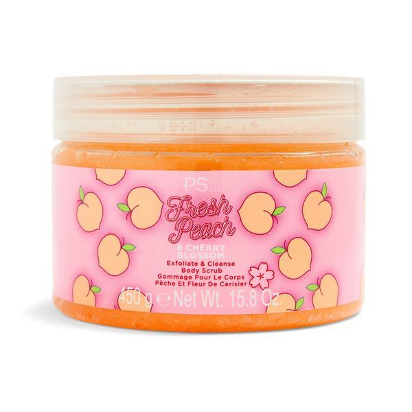 """PS """"Fresh Peach"""" Körperpeeling mit Pfirsich- und Kirschblütenextrakt"""
