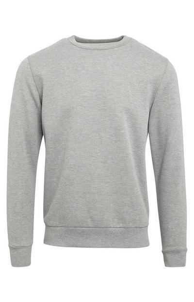 Basic Grey Crew Neck Sweater