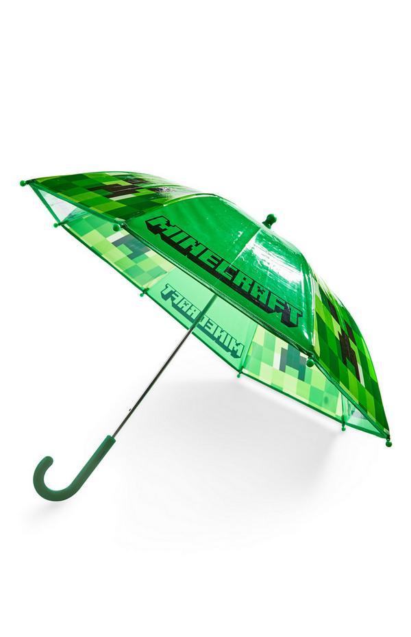 Groene Minecraft-paraplu