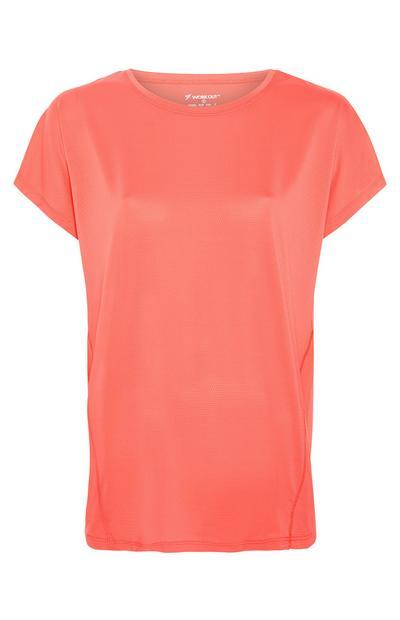 Koralna majica s kratkimi rokavi