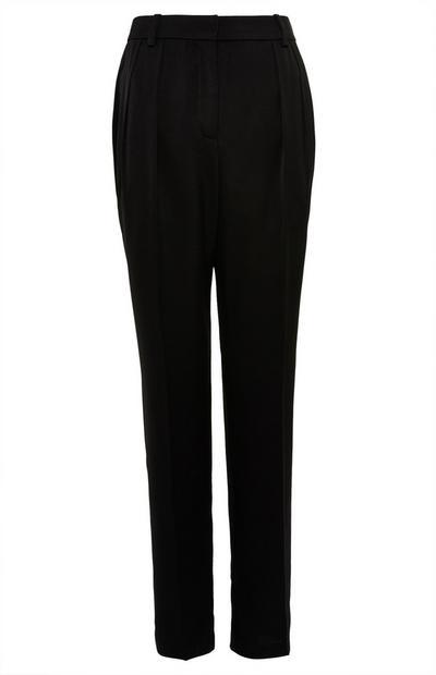 Premium zwarte broek met wijde pijpen